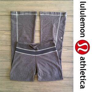 Lululemon Comfy Gray Flared Leggings